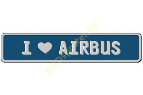 Airbus rendszámtábla
