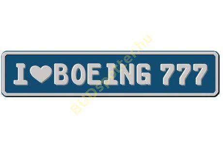 B-777 rendszámtábla