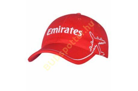 Emirates piros baseball sapka