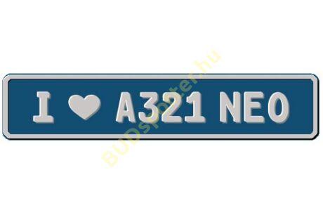 A321 NEO rendszámtábla