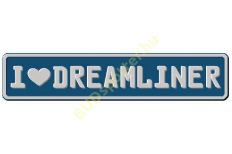 Dreamliner rendszámtábla