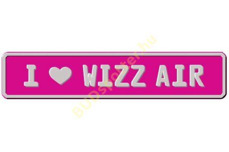 Wizz Air rendszámtábla
